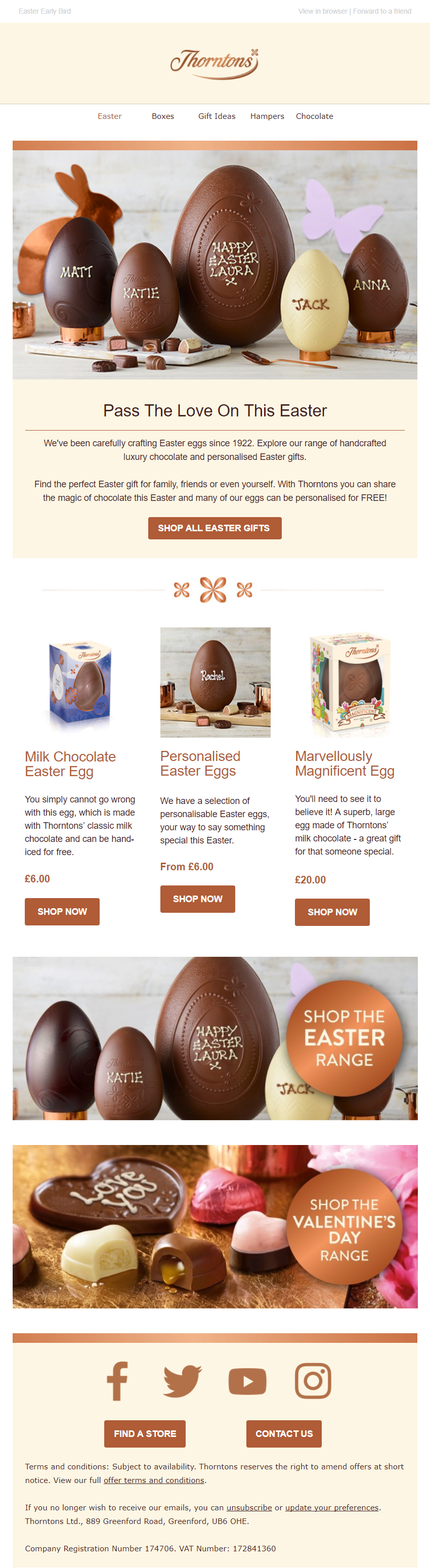 Easter email from thorntons emailmarketing email marketing easter email from thorntons emailmarketing email marketing chocolate gifts easter easter emails pinterest chocolate easter eggs negle Gallery