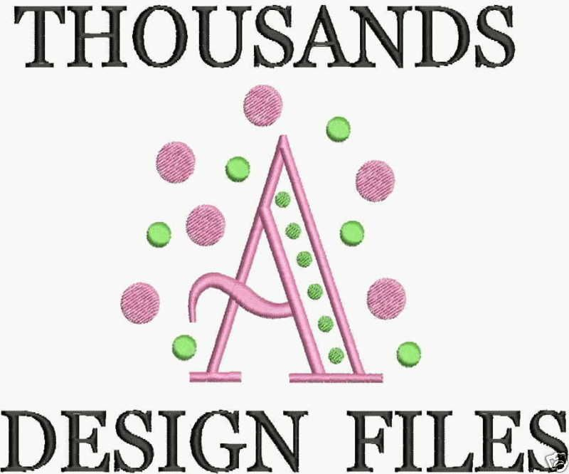 Machine Embroidery Designs FREE Font Brother Formats CD PES HUS JEF ...
