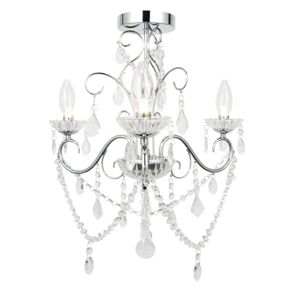 Bathroom Light Victorian vela 3 light bathroom chandelier - ip44 rated (spa-20182-chr