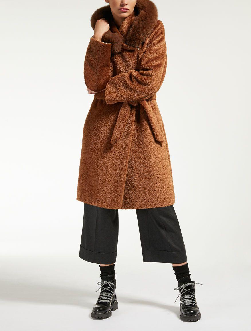 Max Mara Pevera Tobacco Alpaca And Wool Parka Clothes Fashion Coat [ 1154 x 876 Pixel ]