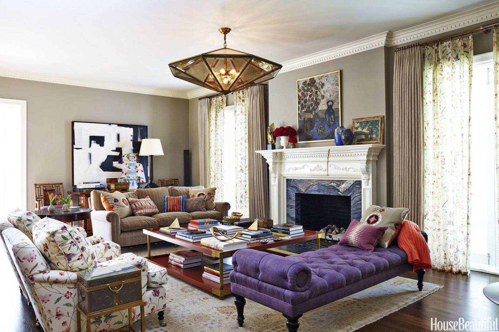 A 1930s Home That Makes Retro Colors Feel New Again. Designer Living  RoomsLiving ... Part 54