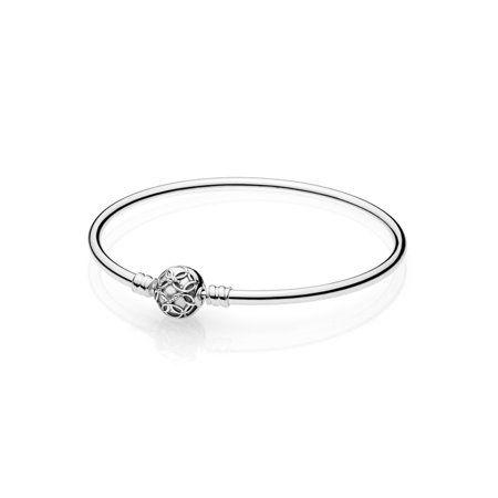 d8a0bad07 Pattern of Love Bangle in sterling silver w/heart pattern Bracelet 21 cm  597137-21, Women's, Metal Type