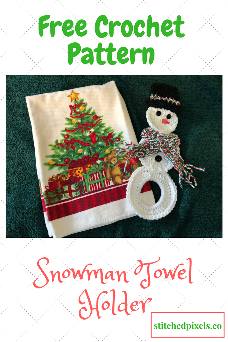 Free Snowman Towel Holder crochet pattern at Stitched Pixels ...