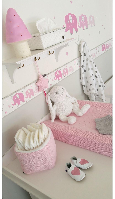 Liebenswert Fantasyroom Lörrach Dekoration Von Dinki Balloon Bordüre Elefanten Rosa/grau, Selbstklebend -