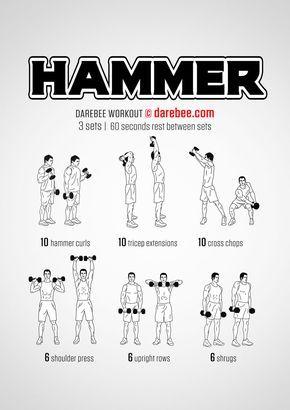 hammer workout  arm workout darebee home workout men