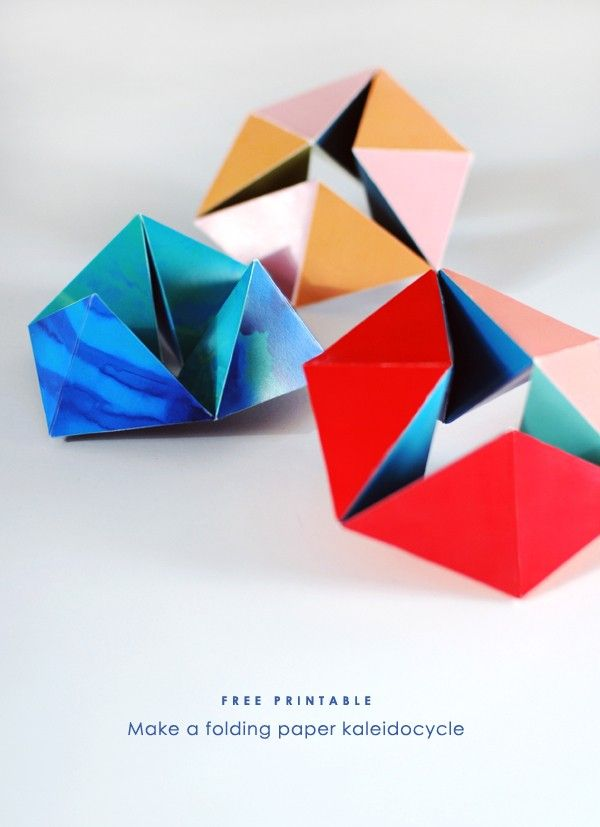 Free Printable Folding Paper Kaleidoscope By We Are Scout