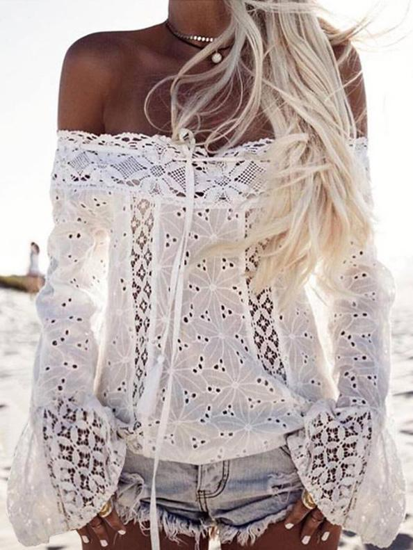New Sleeveless Summer Lace and Cotton Top Hippie Clothes up to Plus Size