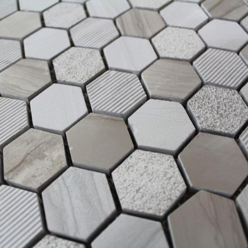 Epingle Par Michele Sur Idee Credence En 2020 Carrelage Hexagonal Carrelage Mosaique Mur En Pierre