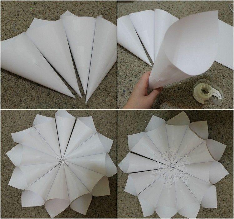 weihnachtsdeko selber basteln aus papier ideen mit anleitung weihnachtsdeko pinterest. Black Bedroom Furniture Sets. Home Design Ideas