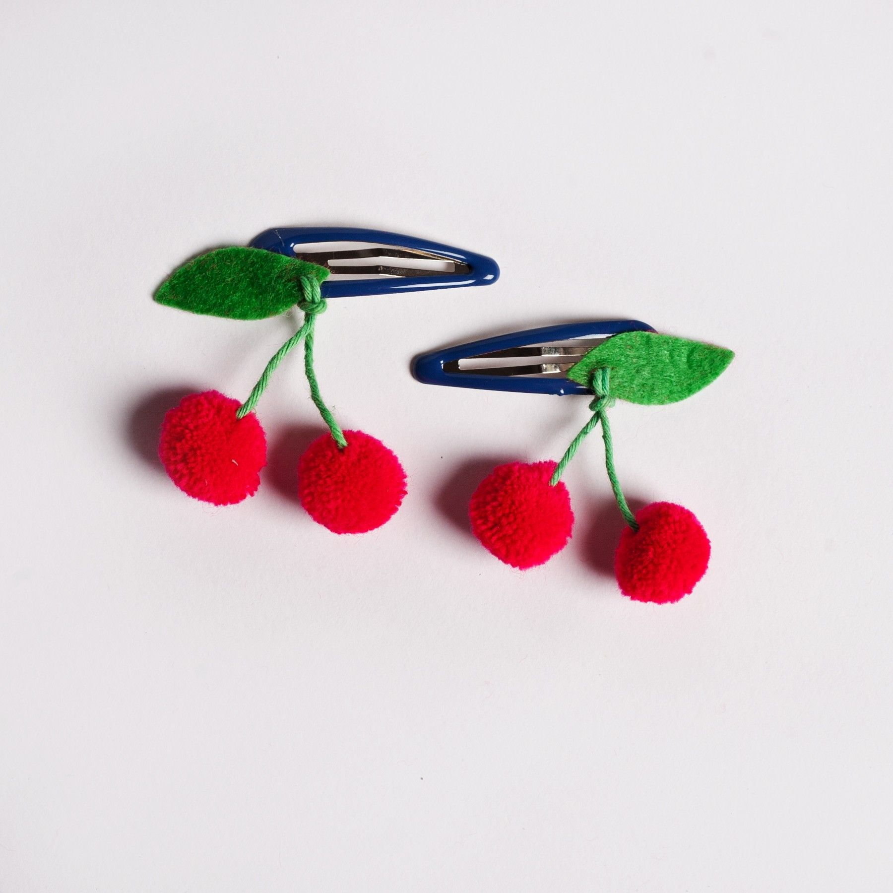 Sweet Thing Cherry Hair Clips - Accessories - Wearing