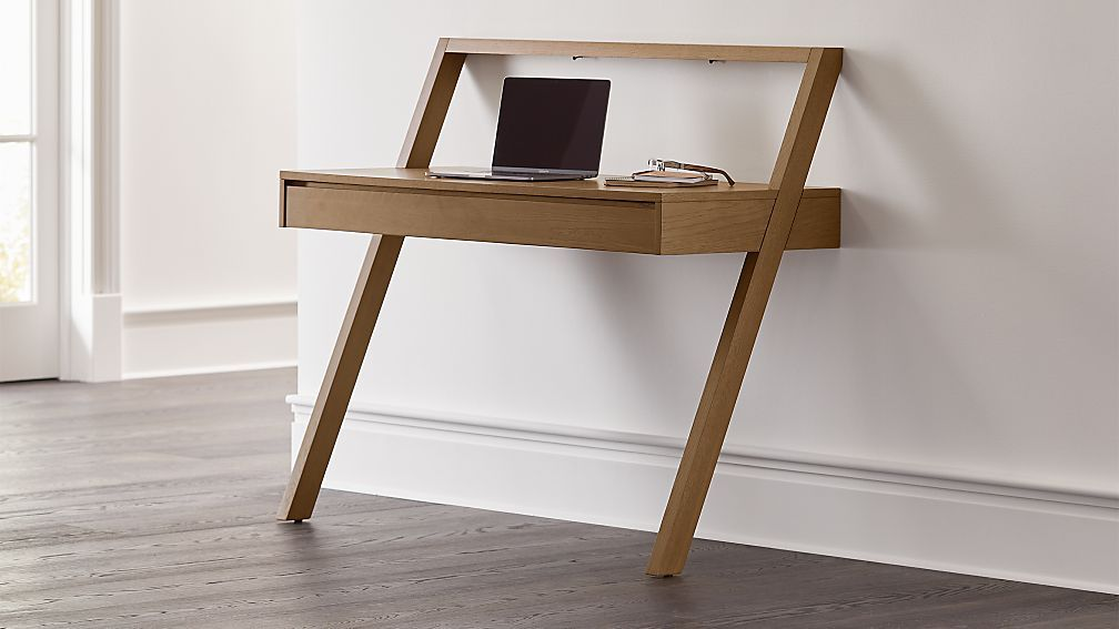Batten Wall Mounted Desk Reviews Crate And Barrel In 2020 Wall Mounted Desk Crate And Barrel Desk Small Wood Desk