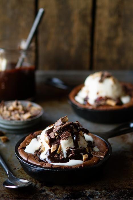 Skillet Brownies / My Baking Addiction