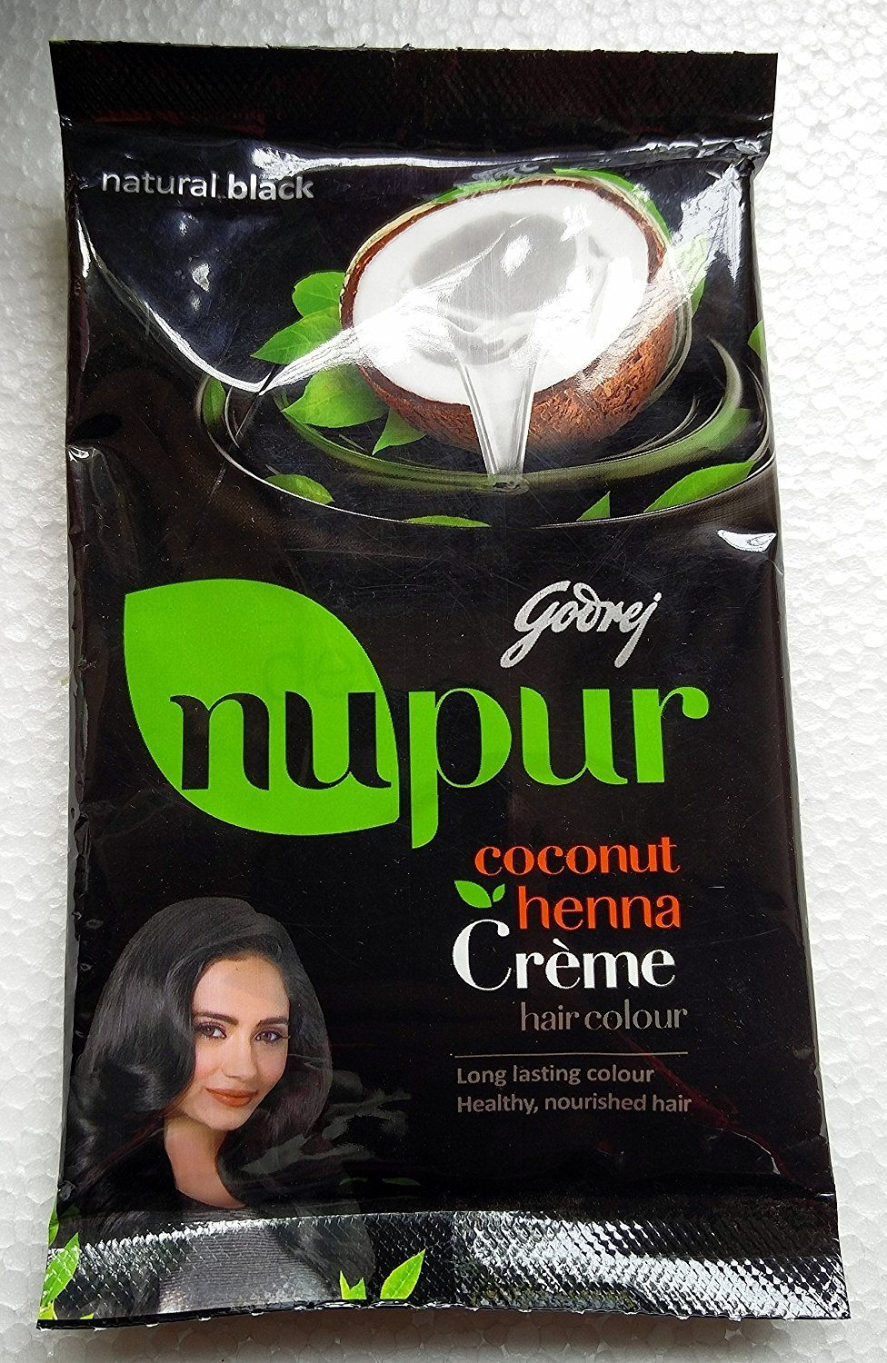 5949b32cb Godrej Nupur Coconut Henna Creme Natural Black Hair Colour 20 Ml -- Be sure  to check out this awesome product.
