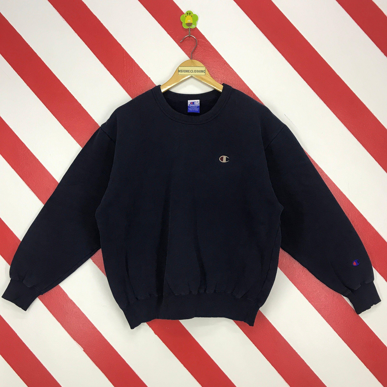 Vintage 90s Champion Sweatshirt Crewneck Champion Sweater Etsy Sweatshirts Champion Sweatshirt Long Sleeve Tshirt Men [ 3000 x 3000 Pixel ]