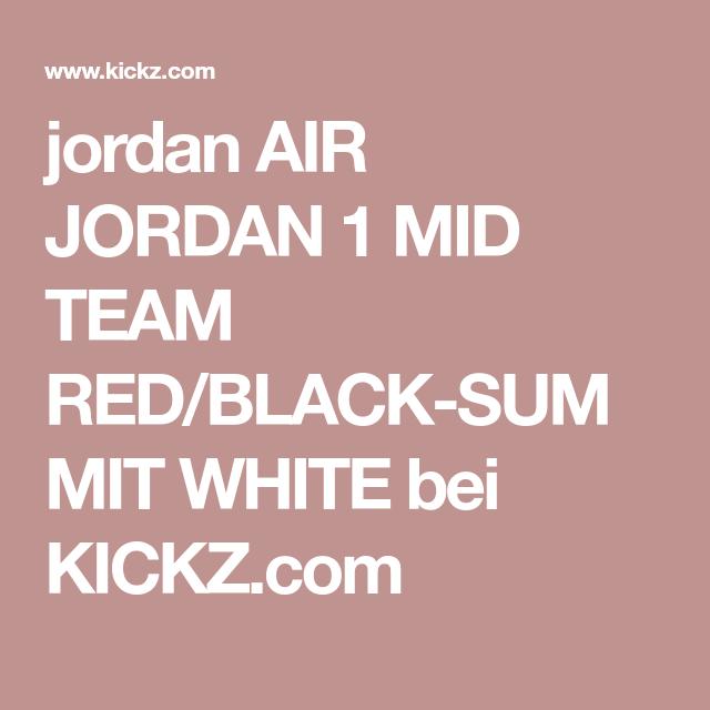 c6898116ab7b jordan AIR JORDAN 1 MID TEAM RED BLACK-SUMMIT WHITE bei KICKZ.com ...