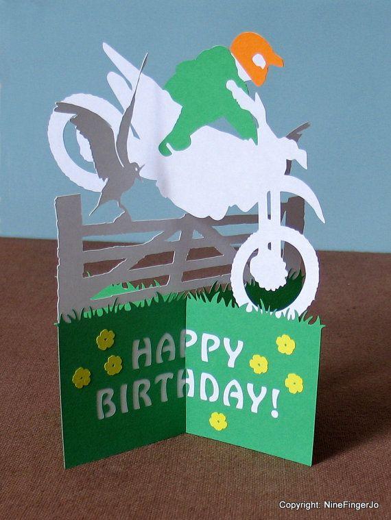 Christmas Cards Motocross Birthday Card Motorcross Motorcycle