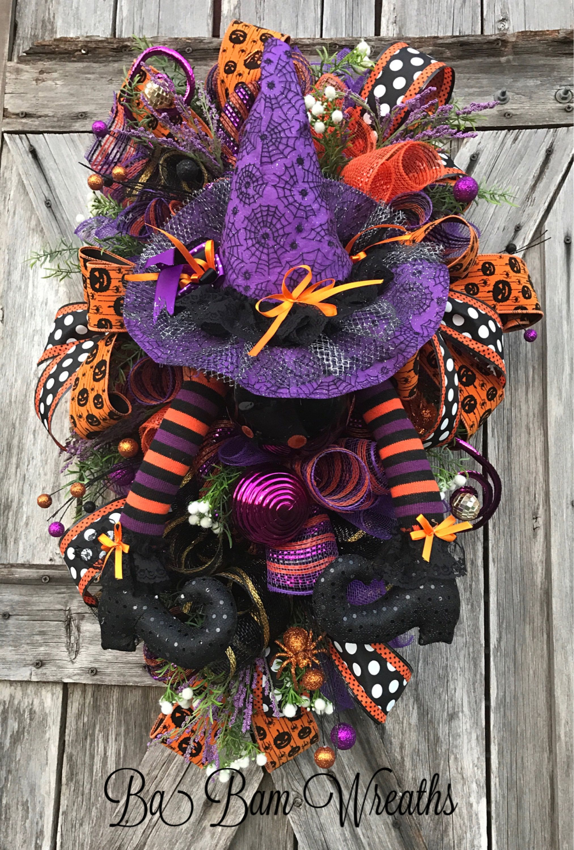 Halloween Swag, Halloween Wreath, Halloween Decor, Halloween Mesh - Whimsical Halloween Decorations