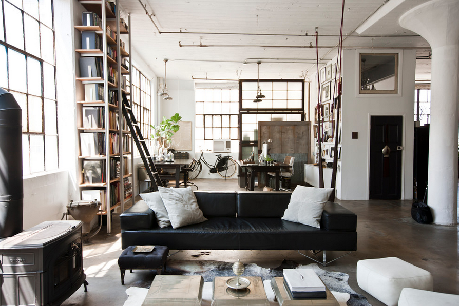 sillon negro | interiors | Pinterest | Space place, Lofts and Industrial