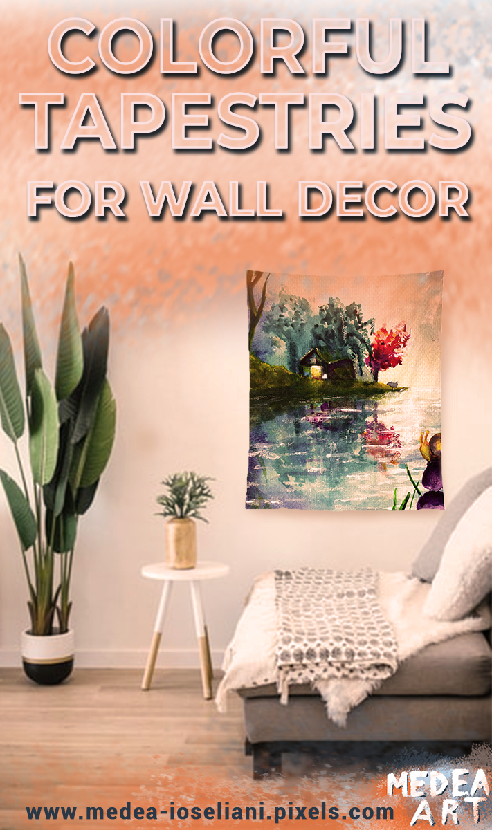 Tapestry Wall Decor In 2020 Hanging Wall Decor Unique Wall Decor Wall Decor