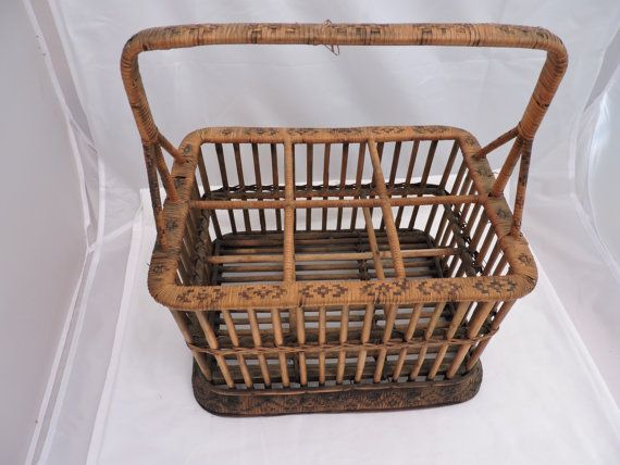 basket vintage bottle wine