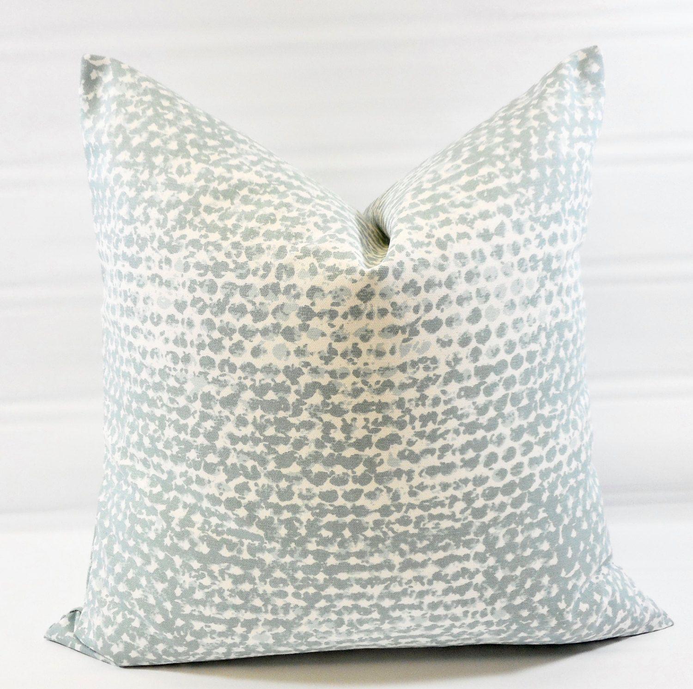 Farmhouse Pillow Cover Blue Pillow Cover Zoey Spa Blue White Bold Modern Cushion Cover Pillow Case Euro Cover Cushion Cover Modern Cushion Covers Blue Pillow Covers Blue Pillows