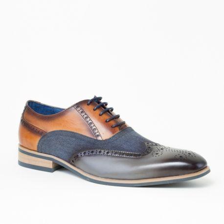 Cognac Chaussures Soignées Avec Crocodile Imprimé Bugatti zxqwYTQ5