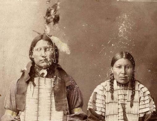 Thomas American Horse and his wife - Oglala - circa 1899