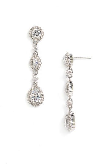 Nadri Framed Cubic Zirconia Crystal Drop Earrings Nordstrom