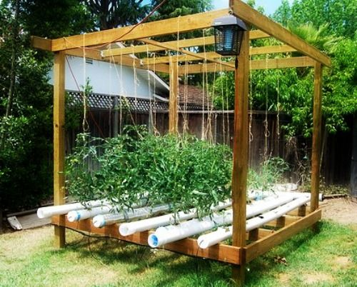 Backyard Hydroponic Growing Gazebo Hydroponic 400 x 300
