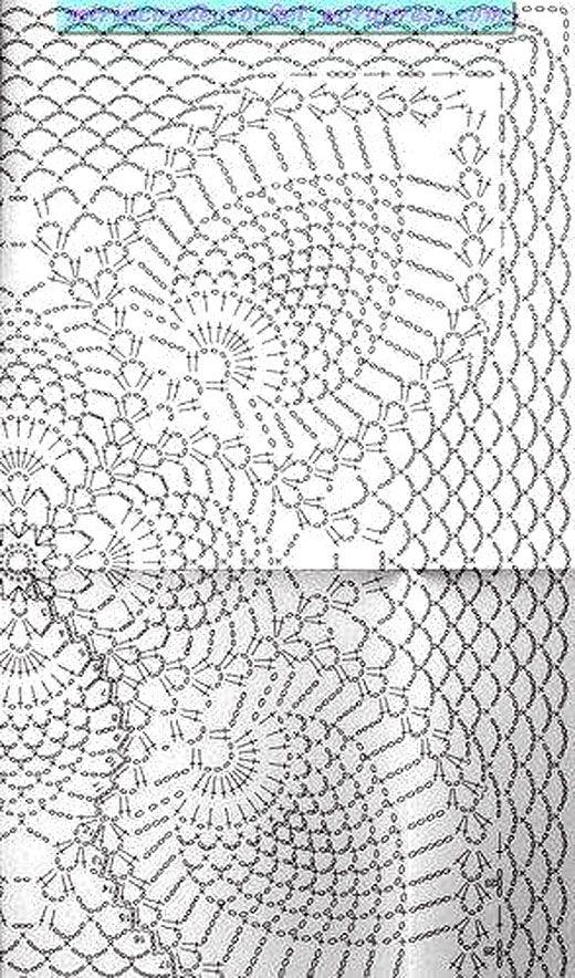 Ажурный узор ананас схема фото 399