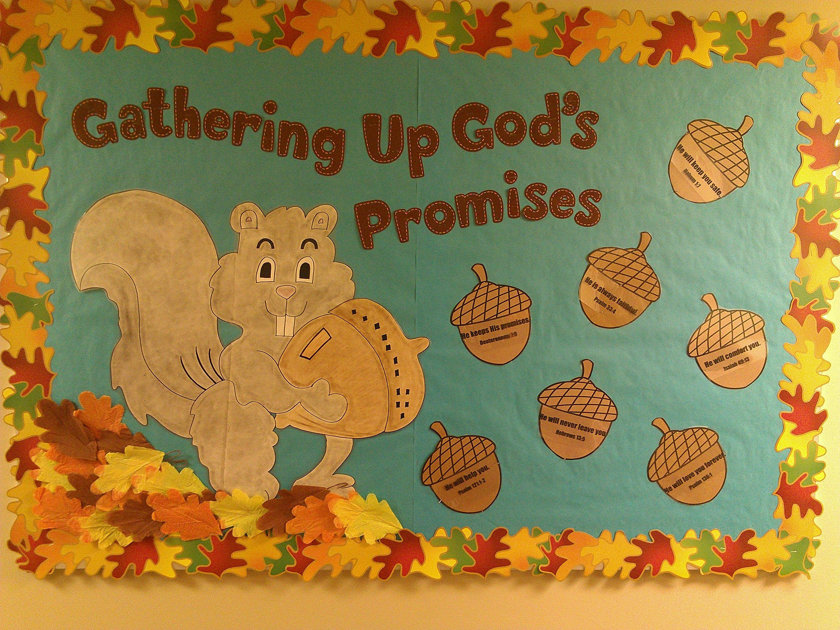 Classroom Layout Ideas For Kindergarten ~ God s promises fall bulletin board church