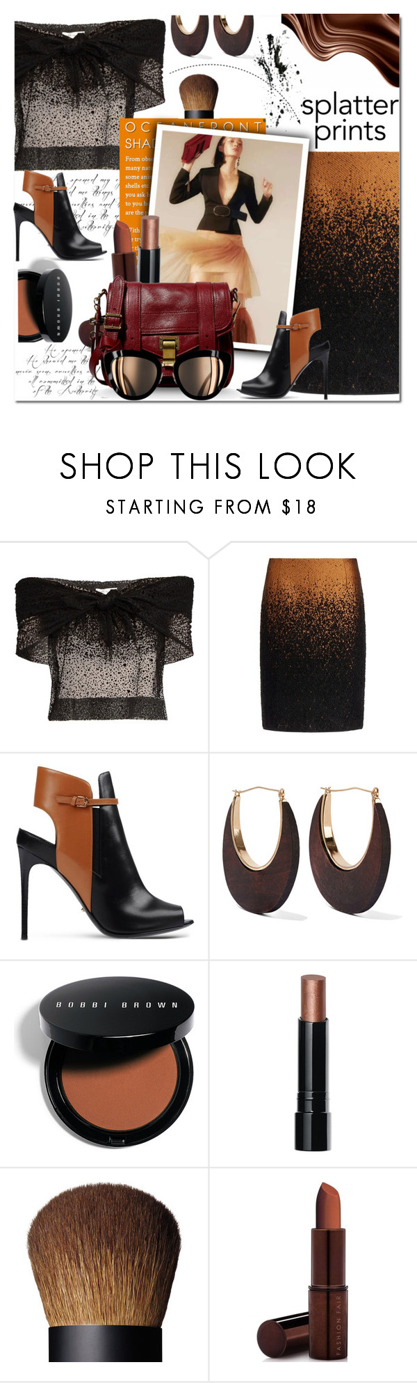 """SPLATTER PRINTS"" by sweta-gupta ❤ liked on Polyvore featuring Isa Arfen, Pringle of Scotland, Sergio Rossi, Kenneth Jay Lane, Bobbi Brown Cosmetics, Fashion Fair, Proenza Schouler, Chanel, polyvoreeditorial and paintiton"