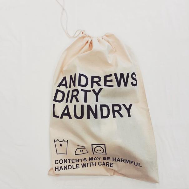 Personalised Dirty Laundry Bag #laundry #personalisedgifts #jual  #bagsatjual £14.99 contact olivia@jual.co.uk for more details ❤️