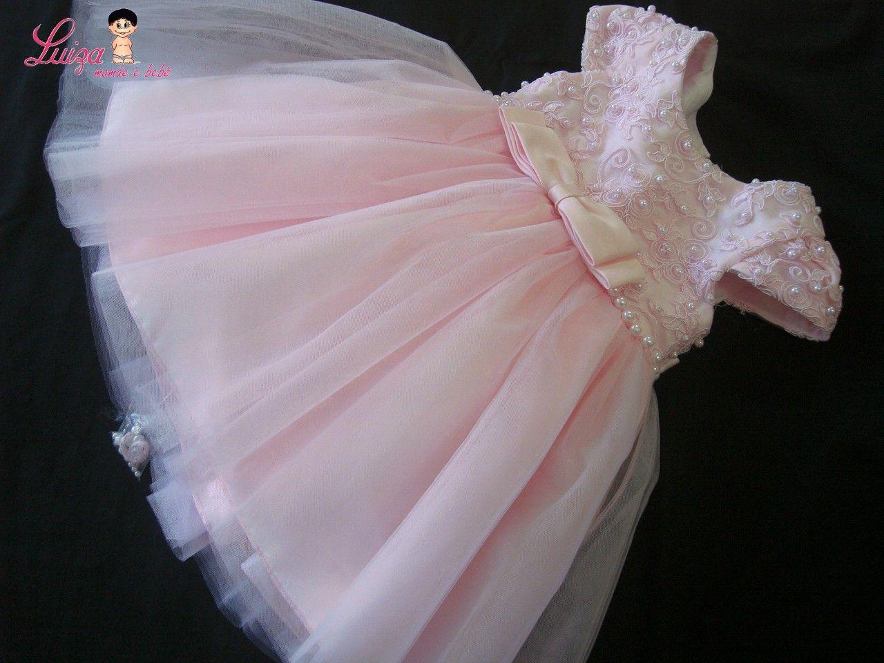 c9f56857de2 vestido de festa infantil 1 ano rosa - Pesquisa Google | vestidos ...