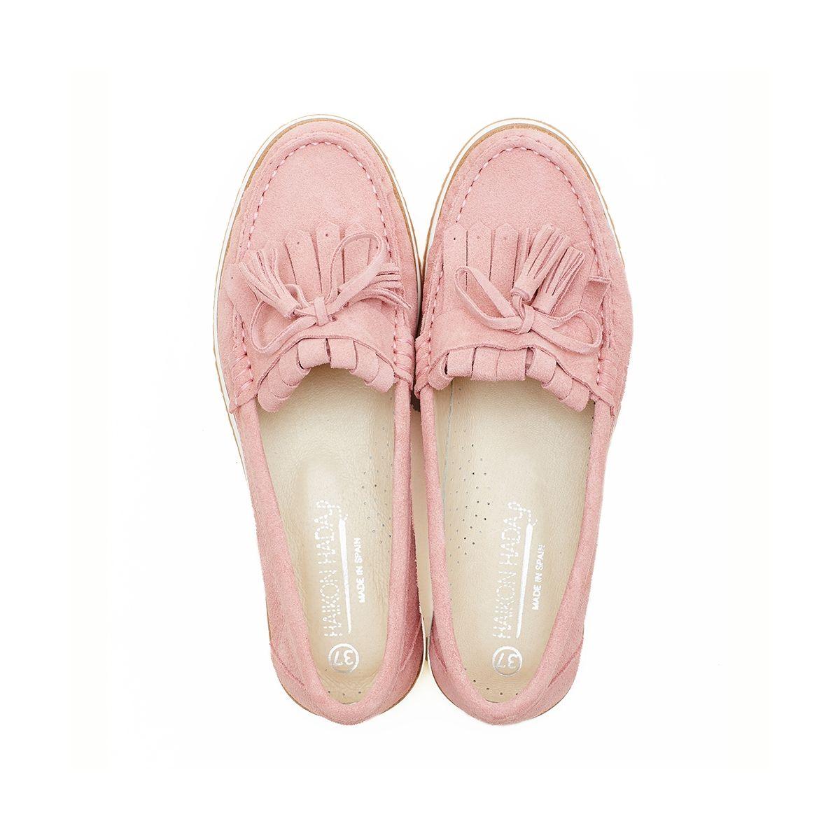 Haikon Hada Haikon Hada Afelpado Antique Mokasyny Buty Damskie Shoes Slippers Mule Shoe