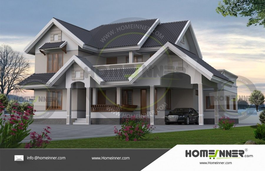 Two Story Kerala Style House Elevations Building House Plans Designs Double Storey House House Plans