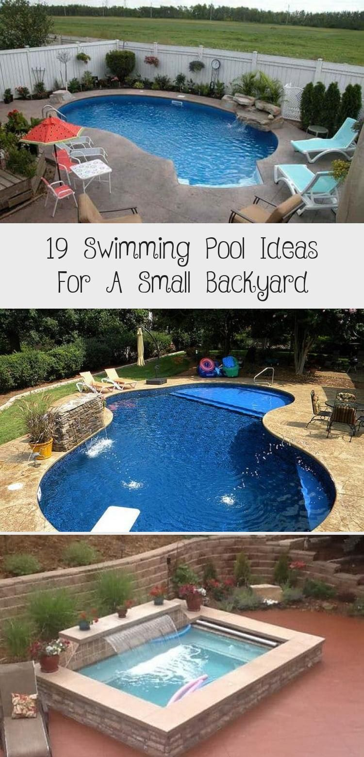 19 Swimming Pool Ideas For A Small Backyard Home Design In 2020 Swimming Pools Small Backyard Pool Landscaping