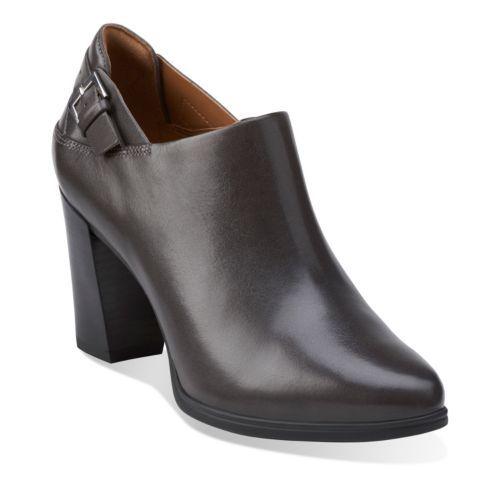 Grey · Kadri Dylan Dark Grey Leather - Clarks Womens Shoes ...