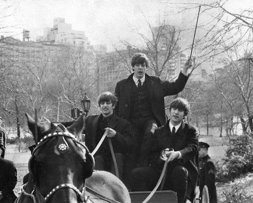 Ringo, Paul, and John in Central Park, 1964