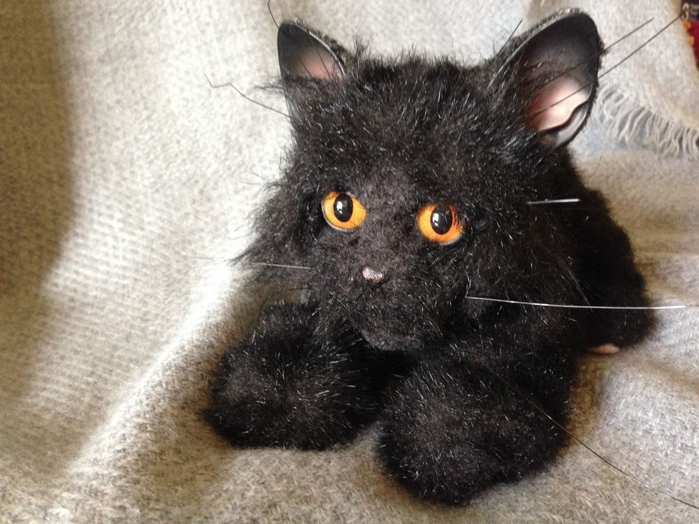 Furreal Friends Animated Black Kitten W Orange Eyes 2002 Tiger