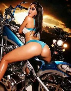 Amusing question Girl naked on streetbike can