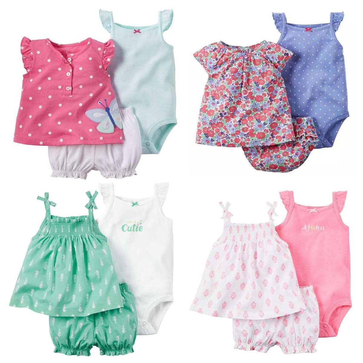 Summer bebes baby girl clothes condole belt set dresses kids newborn