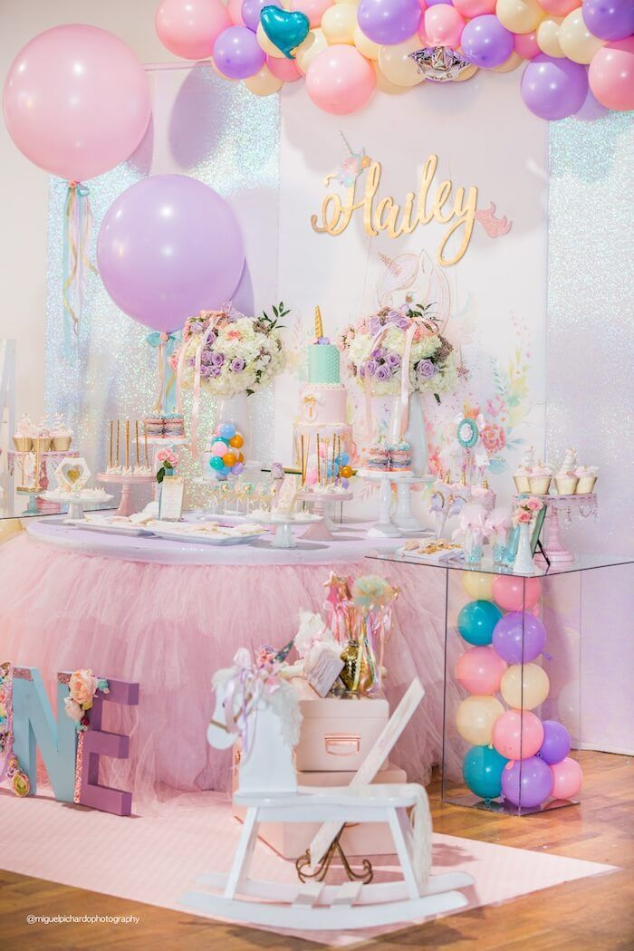 i believe in unicorns birthday party id e de f te. Black Bedroom Furniture Sets. Home Design Ideas