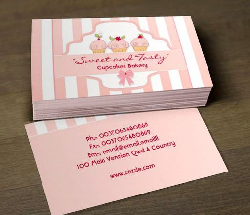 Pink Milky Cupcake Bakery Business Cards This Great Card Design Is Available For Customization