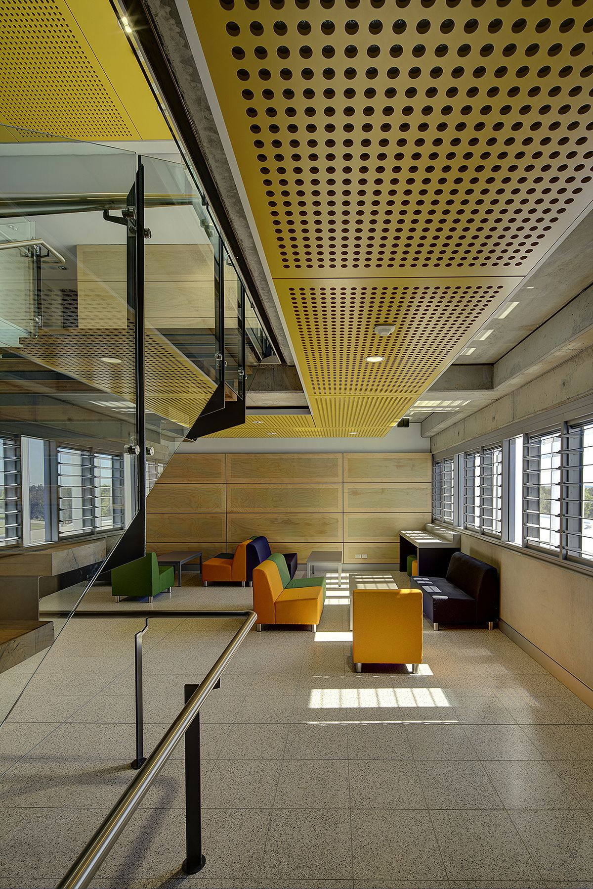 Suspended Perforated Acoustic Mdf And Plywood Ceilings Contain