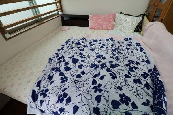 ベッドの幅を広げてみた 碧い空と本当の気持ち ベッド カラーボックス 赤ちゃん