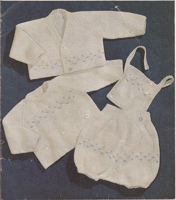Free Baby Romper Pattern | PDF Vintage Baby Boys Sweater,Cardigan ...