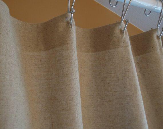 organic hemp bamboo shower curtain with lace bathroom