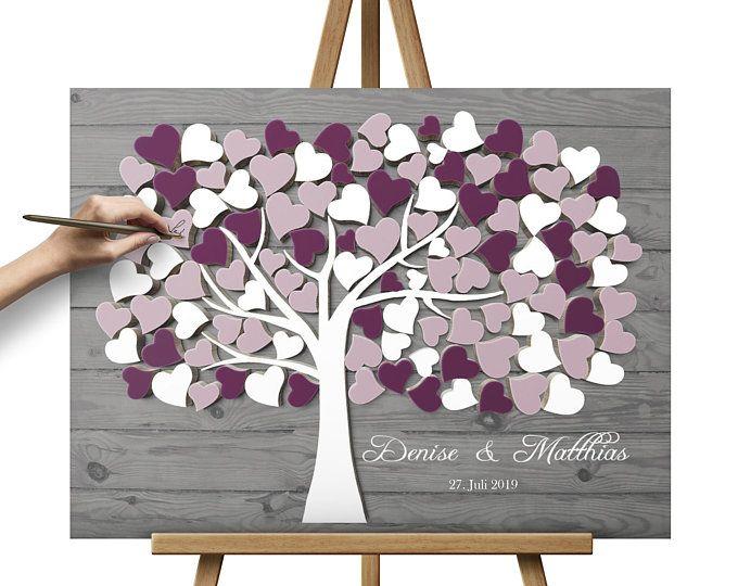 Hochzeitsgeschenk Hochzeitsgästebuch Gästebaum Wedding Tree