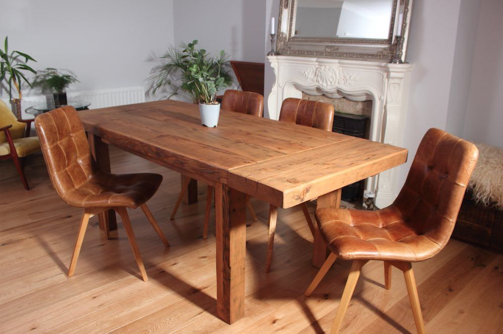 Farmhouse Reclaimed Wood Dining Table Extendable Modish Living